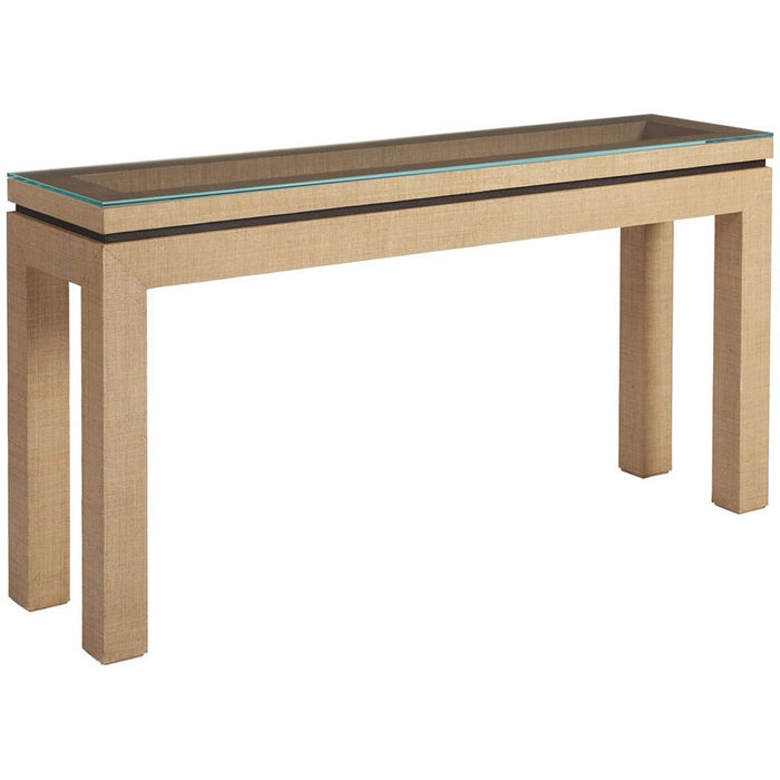 Lexington Barclay Butera Newport Harbor Raffia Console Table