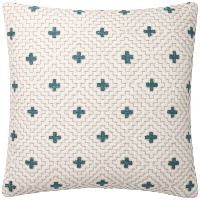 "Loloi P0816 Ivory Blue 22"" x 22"" Pillows Set of 2"