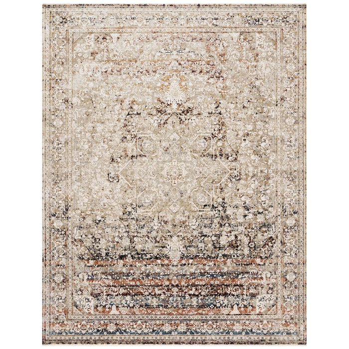 Loloi Theia THE-05 Taupe Brick Power Loomed Rug