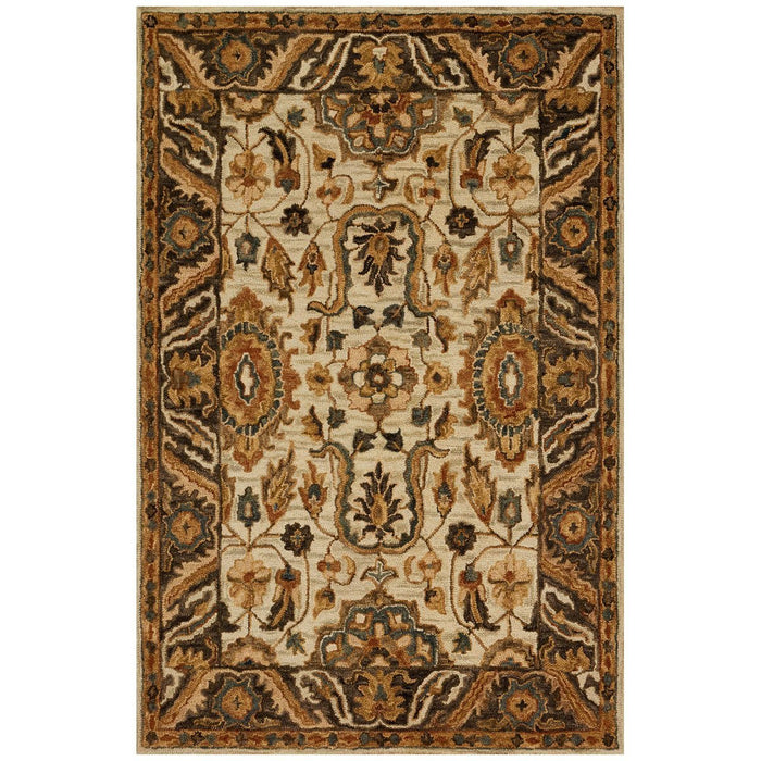 Loloi Victoria Ivory and Dark Taupe Rug
