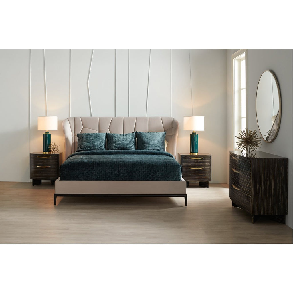 Caracole Modern Edge Vector Upholstered Bed