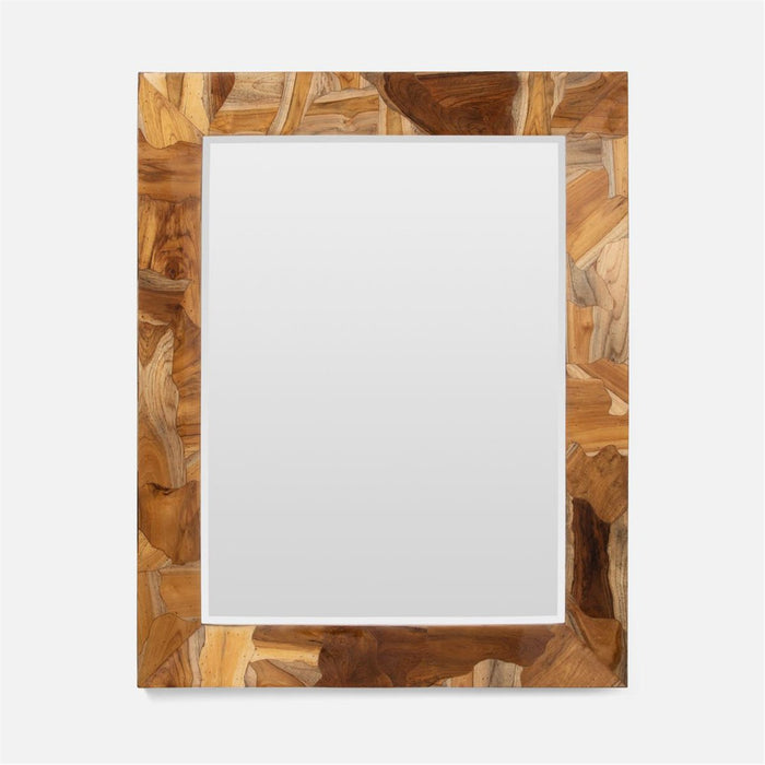Made Goods Chandler Teak Mirror with Resin