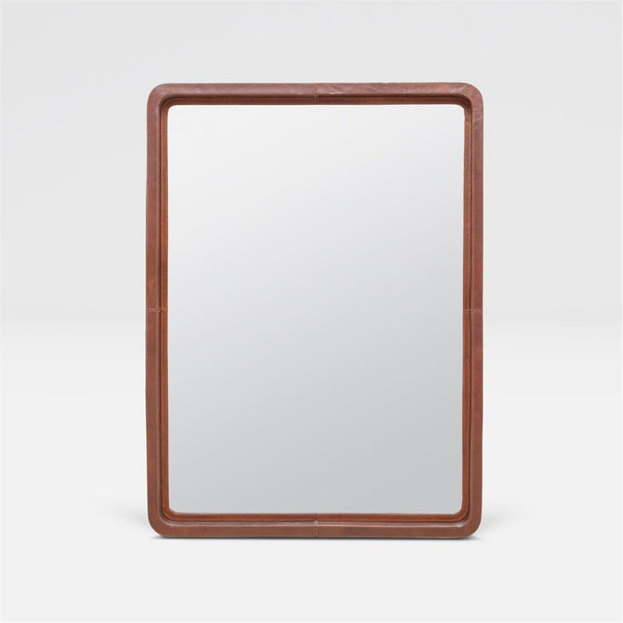 Made Goods Duncan Tobacco Full-Grain Leather Mirror