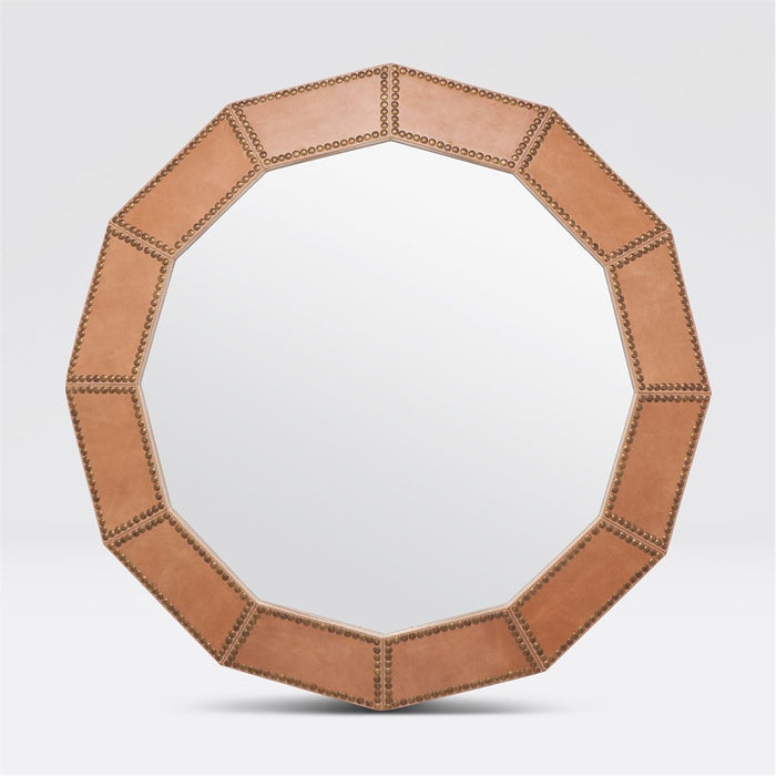 Made Goods Hume 12 Sided Leather Mirror