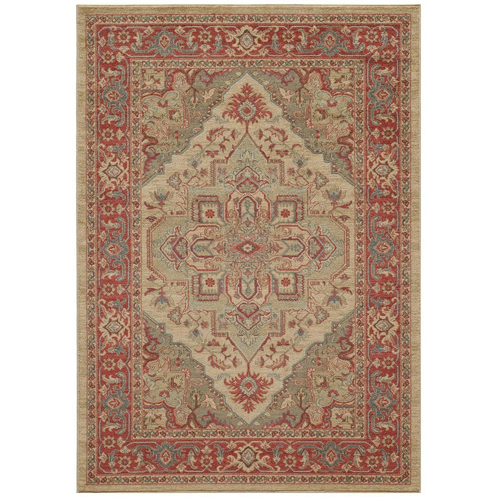 "Momeni Rug Ghazni Machine Made 9'-3"" X 12'-6"" Beige Rug"