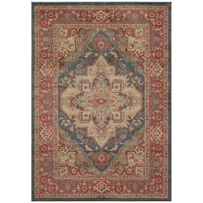 "Momeni Rug Ghazni Machine Made 9'-3"" X 12'-6"" Navy Rug"