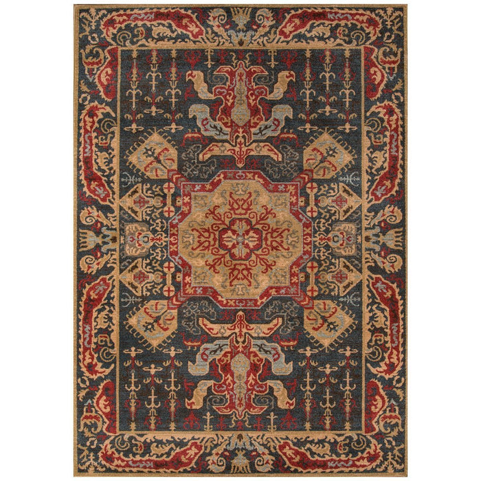 Momeni Ghazni Turkish Machine Made GZ-08 Navy Rug