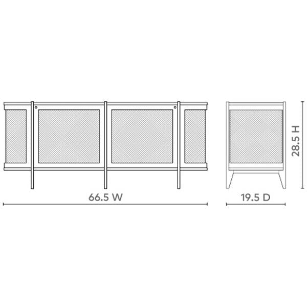 Bungalow 5 Nadia 2-Door Cabinet - White