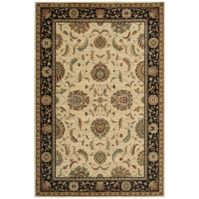 Nourison Living Treasures LI04 Ivory Black Rug