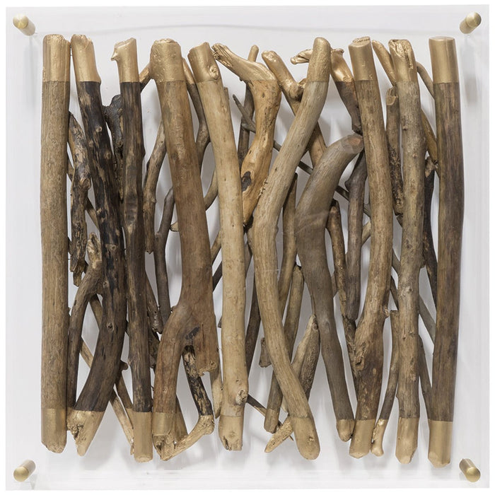 Palecek Acrylic Driftwood Wall Decor - Square