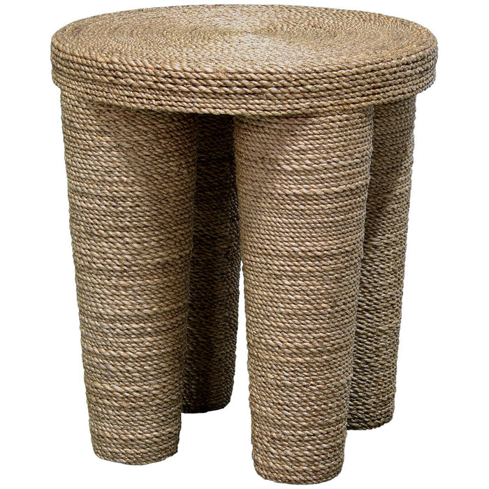 Palecek Wrapped Rope Footed Stool
