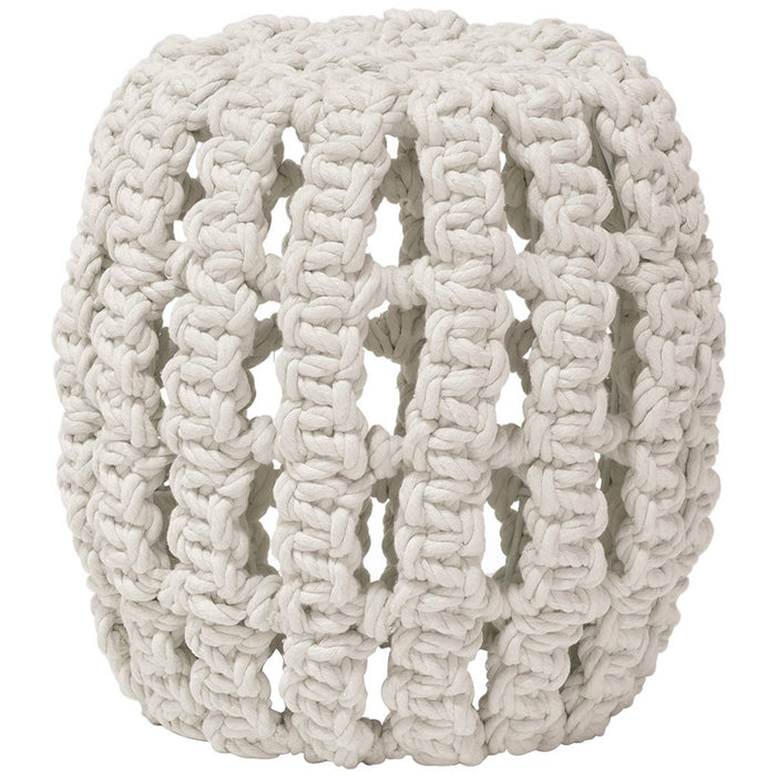 Palecek Annabel Natural Cotton Hassock