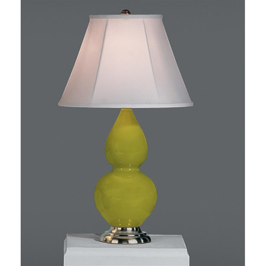 Robert Abbey Small Double Gourd Table Lamp with Silk Stretch Shade