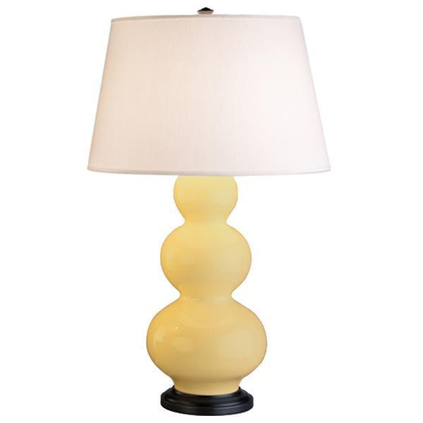Robert Abbey Triple Gourd Table Lamp with Hard Back Shade