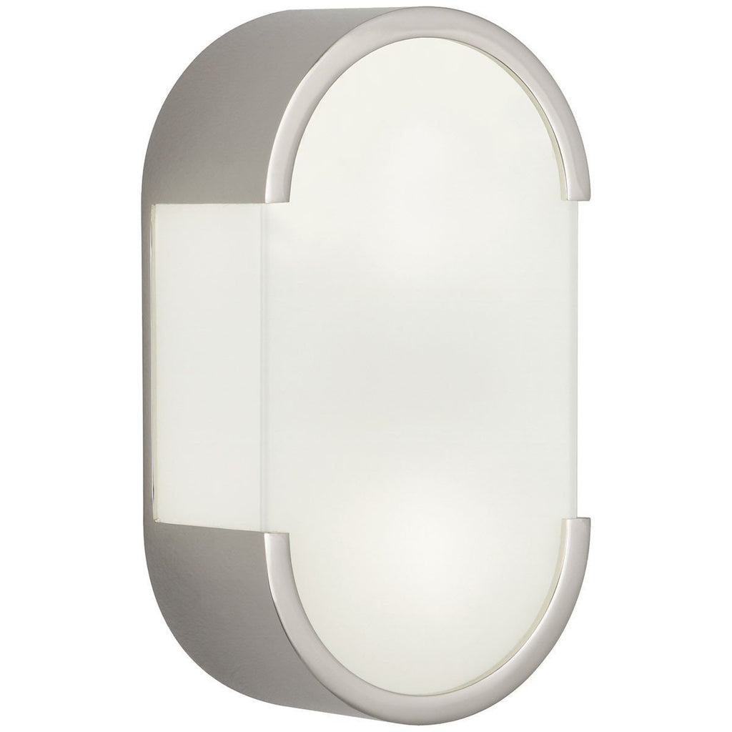 Robert Abbey Bryce White Frosted Glass Wall Sconce