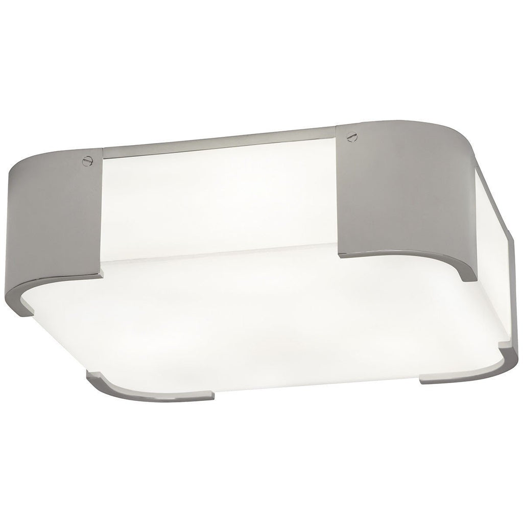 Robert Abbey Bryce White Frosted Glass Flushmount