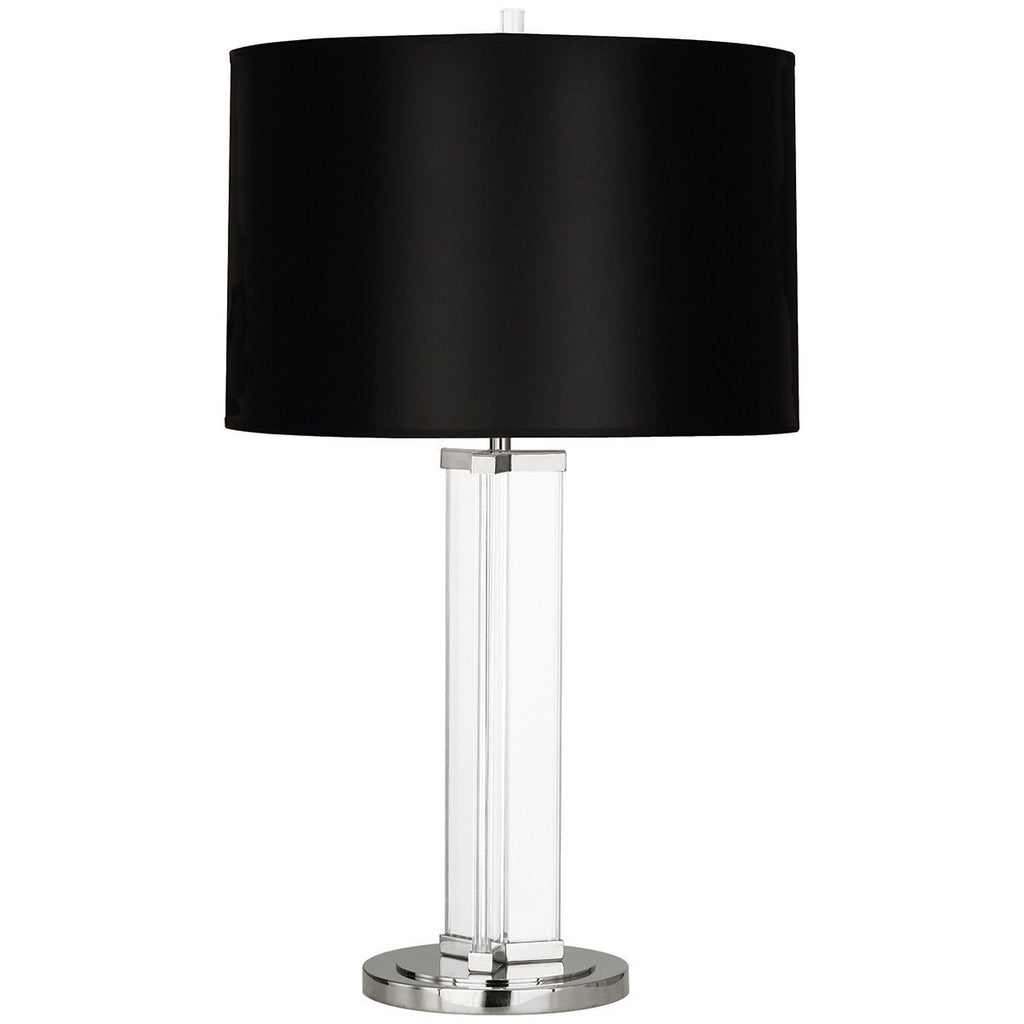 Robert Abbey Fineas Clear Glass Column Table Lamp