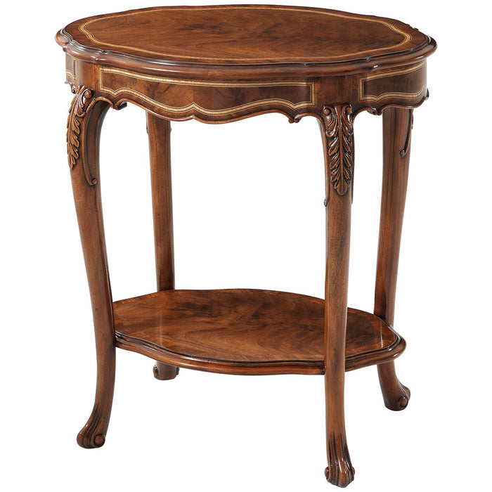 Theodore Alexander Oval Millard Accent Table