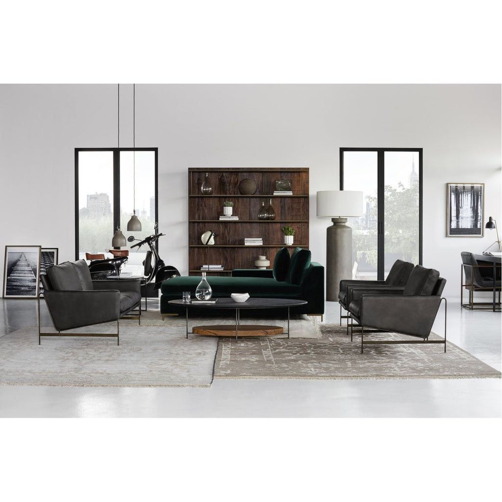 Thomas Bina Vanessa 2-Seater Sofa - Destroyed Black Leather