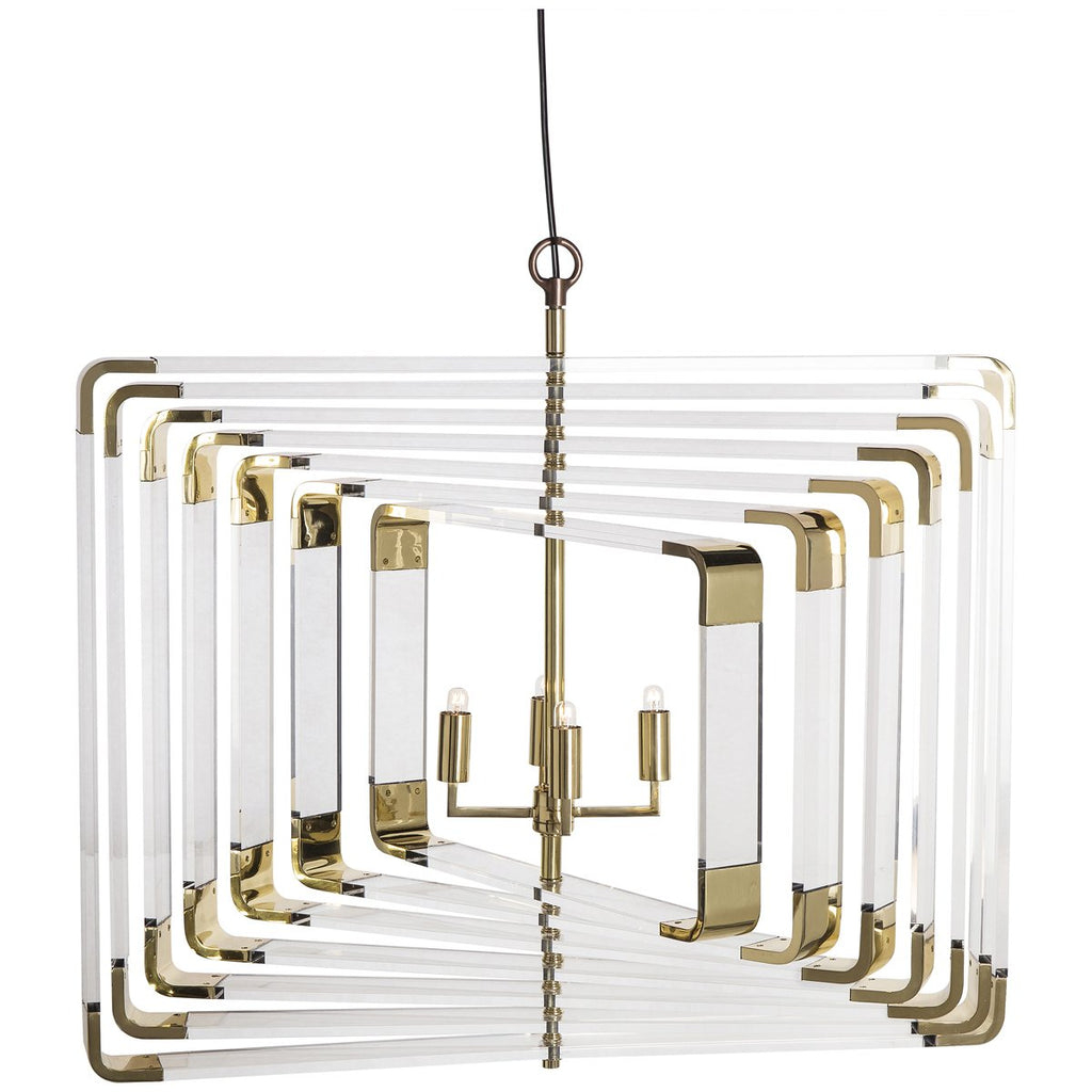 Nellcote Spiral 7-Layer Acrylic Chandelier