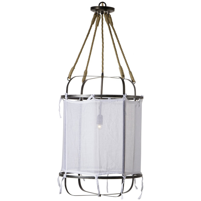 Nellcote French Laundry Small Pendant Light - White
