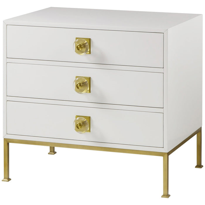 Boyd Formal 3-Drawer Chest - White Lacquer