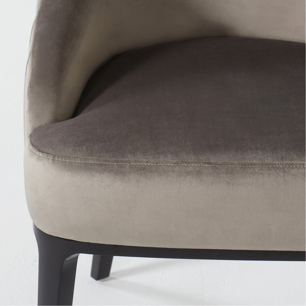 Andrew Martin Cersie Dining Chair - Black, Harry Velvet Storm