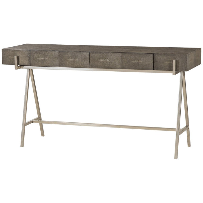 Andrew Martin Sampson Console Table - Charcoal Shagreen
