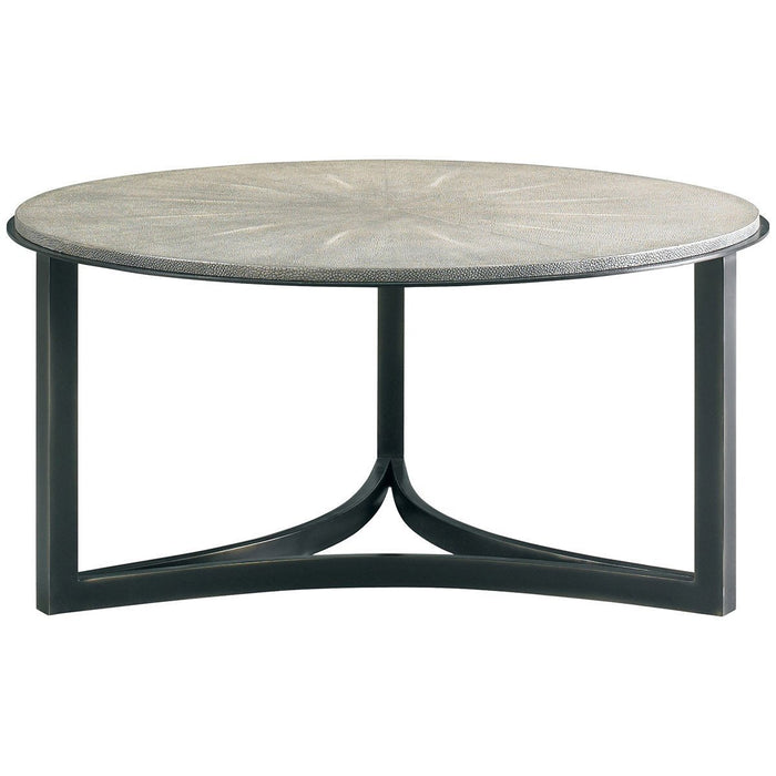CTH Sherrill Occasional Niko Cocktail Table Charcoal Shagreen