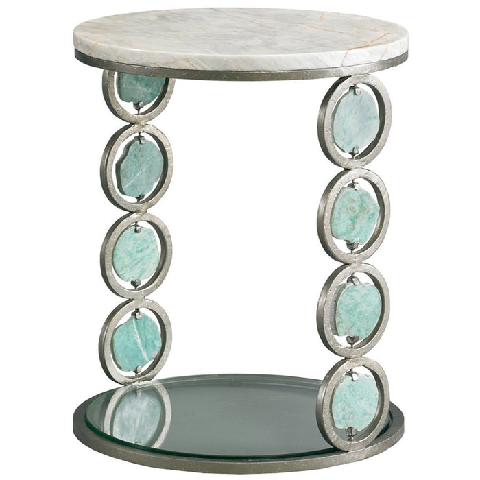 CTH Sherrill Occasional Jade Stone Accent Table