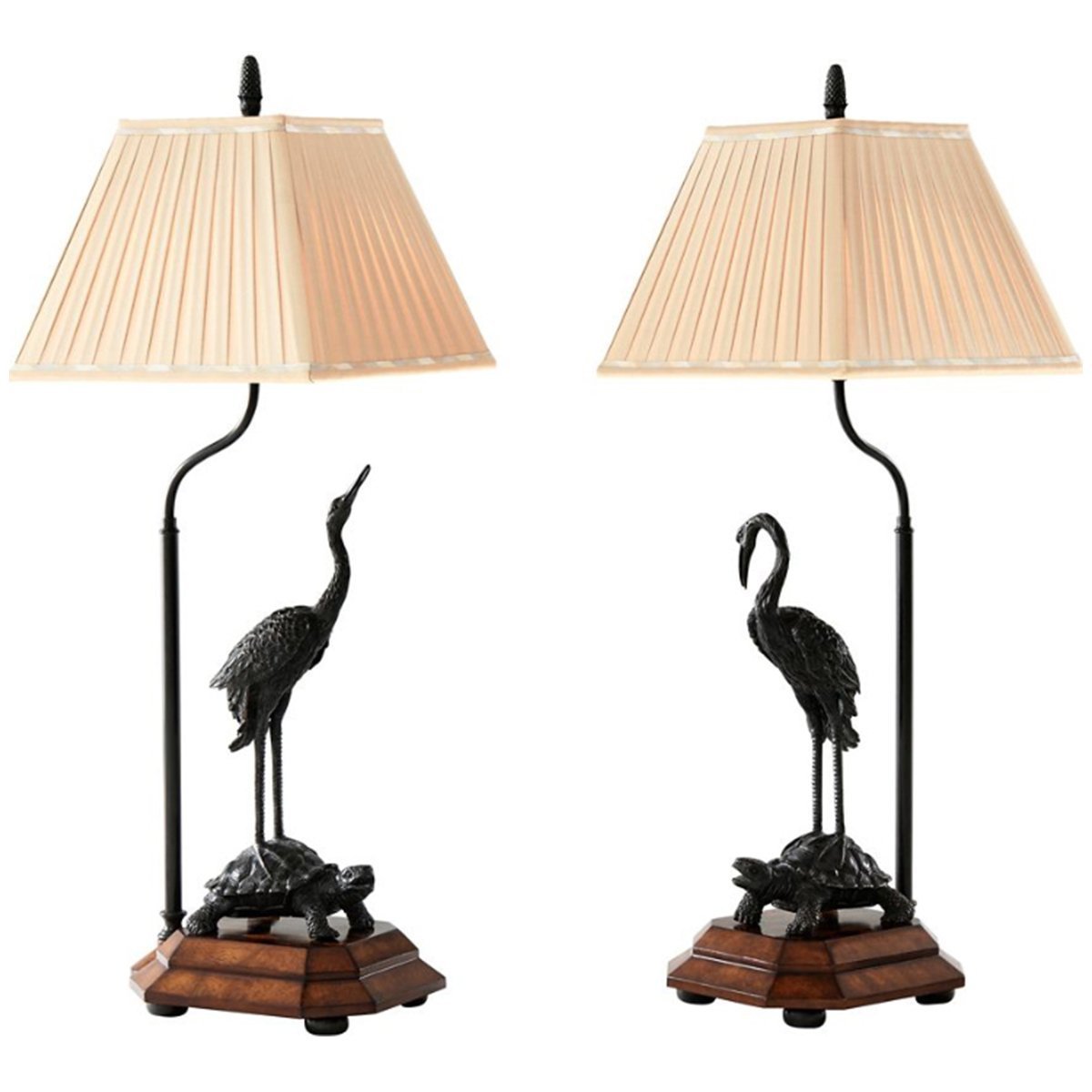 Theodore Alexander Indochine Meiji Cranes Table Lamp