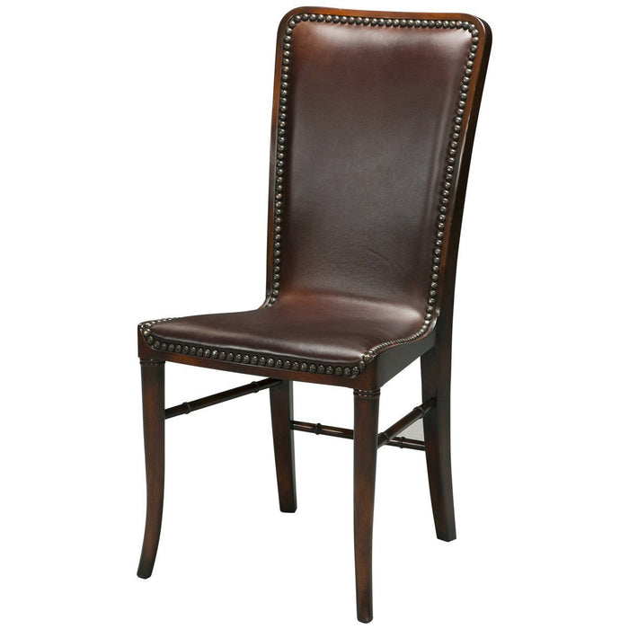 Theodore Alexander Leather Sling Dining Chair Set of 2