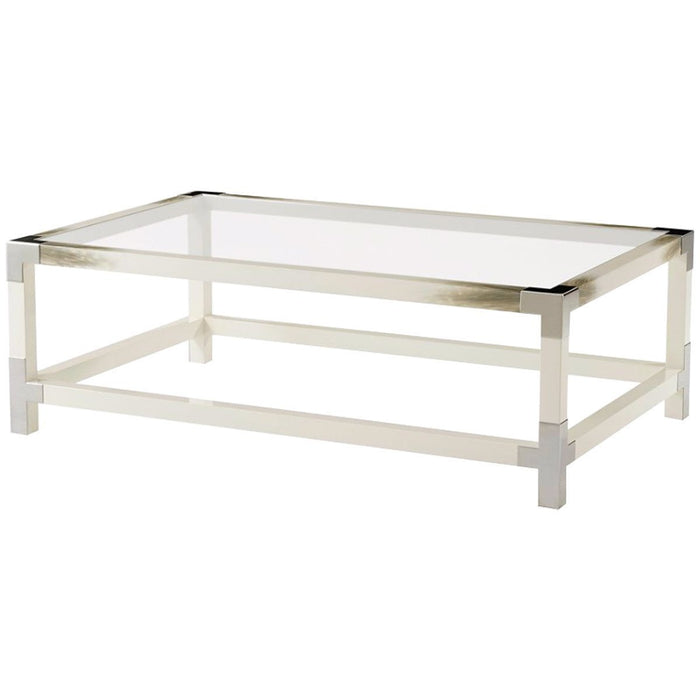 Theodore Alexander Cutting Edge Longhorn White Cocktail Table