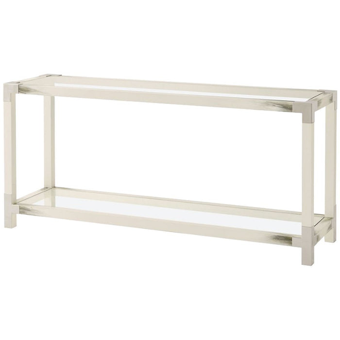 Theodore Alexander Cutting Edge Longhorn White Console Table
