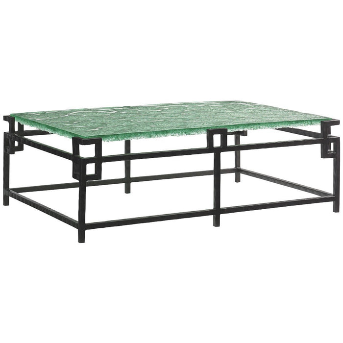 Tommy Bahama Island Fusion Hermes Reef Glass Top Cocktail Table