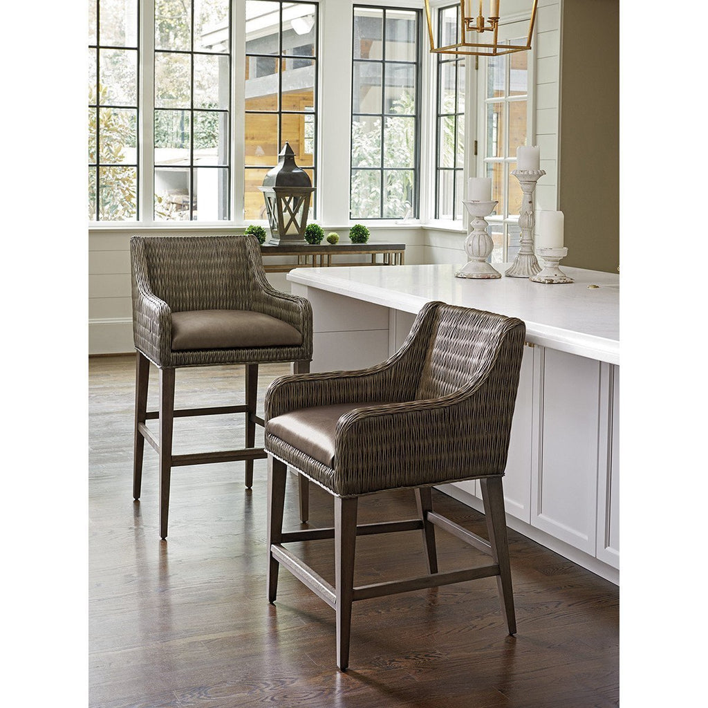 Tommy Bahama Cypress Point Turner Woven Bar Stool