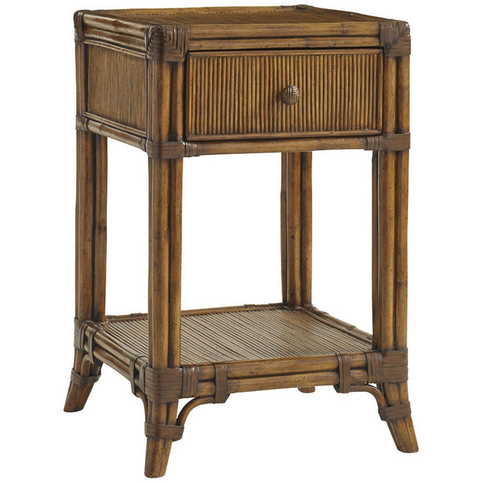 Tommy Bahama Bali Hai Medium Brown Del Sol Bedside Table