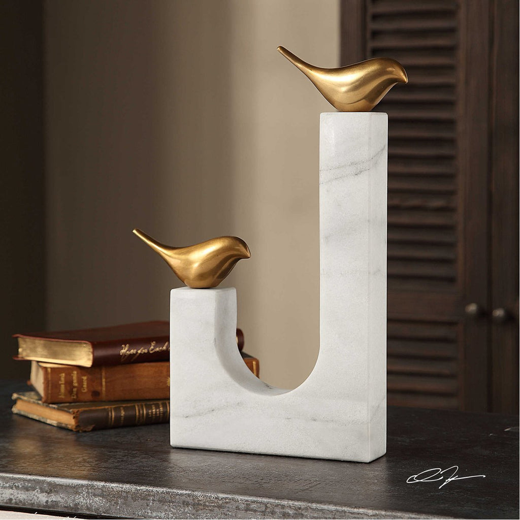 Uttermost Songbirds Brass Sculpture