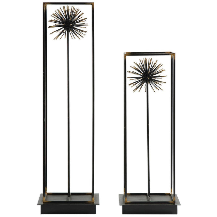 Uttermost Flowering Dandelions Sculptures, Set of 2