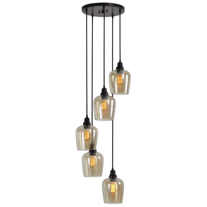 Uttermost Aarush 5-Light Glass Cluster Pendant