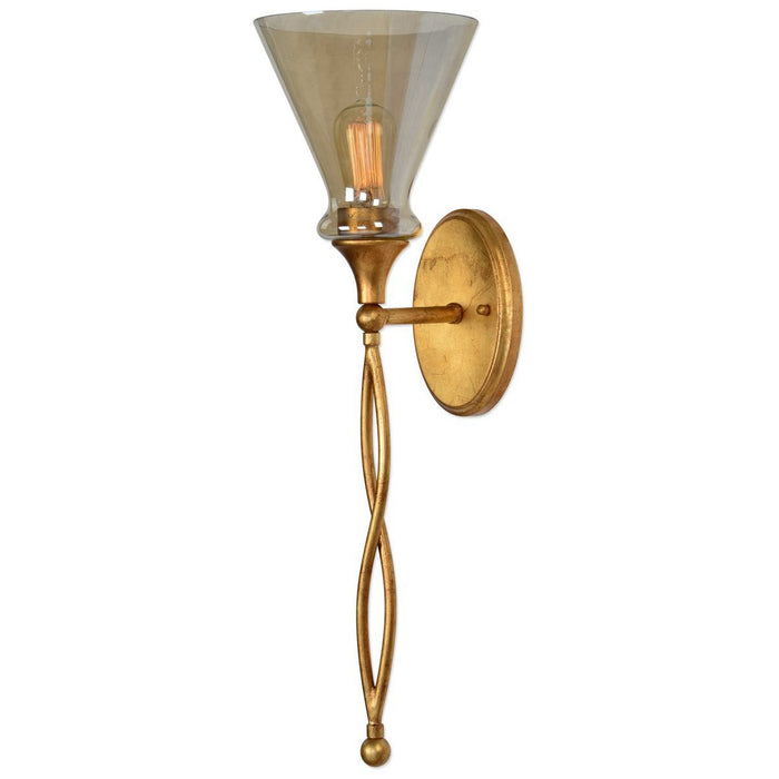 Uttermost Glam 1-Light Gold Sconce