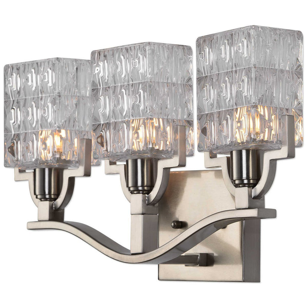 Uttermost Copeman Brushed Nickel 3-Light Vanity Strip