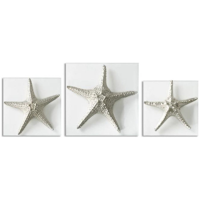 Uttermost Set of 3 Silver Starfish Wall Art