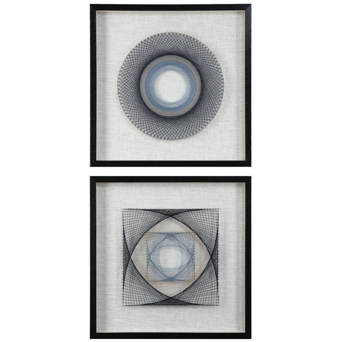 Uttermost String Duet Geometric Art Set of 2