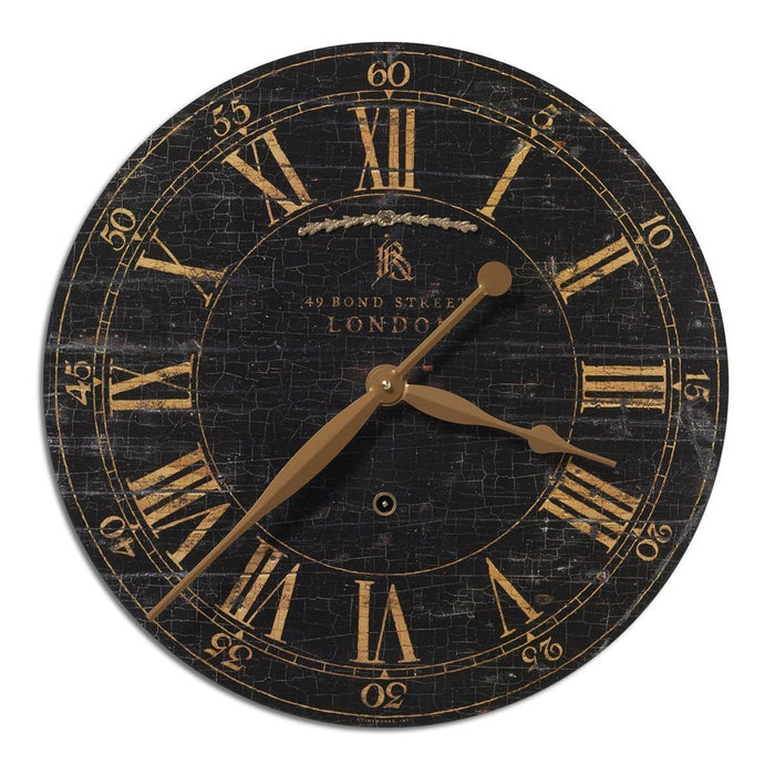 Uttermost Bond Street Black Wall Clock 06029