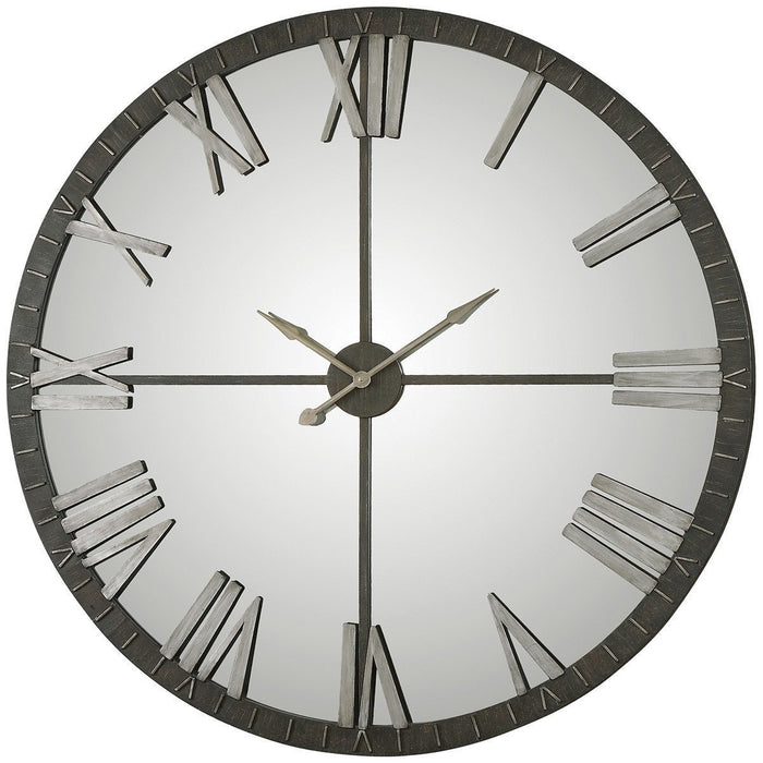 Uttermost Amelie Large Bronze Metal Wall Clock