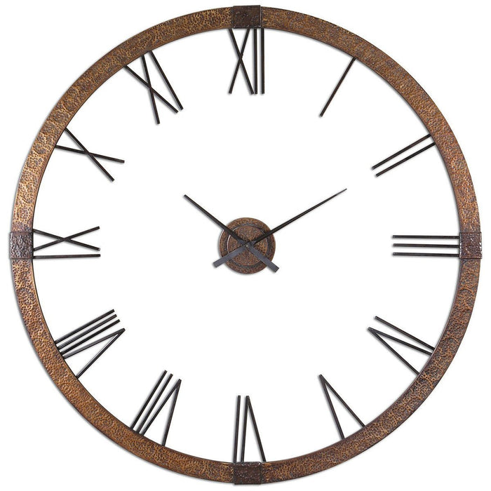 "Uttermost Amarion 60"" Copper Wall Clock 06655"