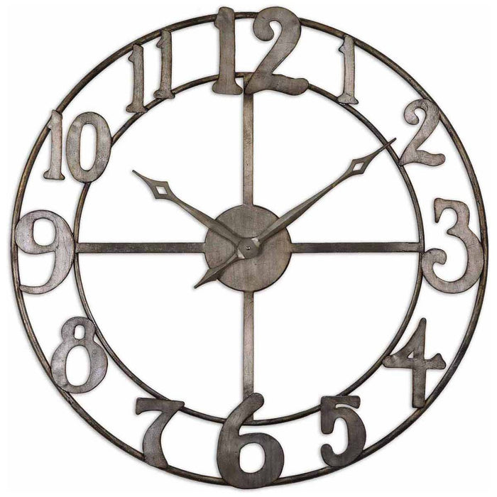 "Uttermost Delevan 32"" Metal Wall Clock 06681"