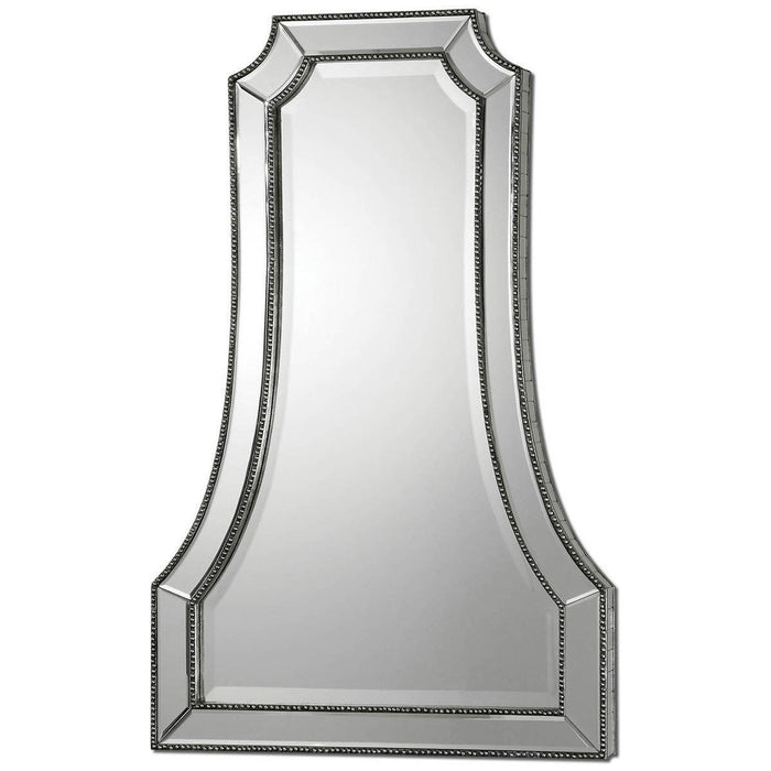Uttermost Cattaneo Silver Beaded Mirror 08077