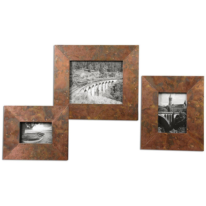 Uttermost Ambrosia Copper Photo Frames Set of 3 18564